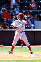 AUSTIN, TEXAS-March 5, 2011:  Brian Ragira of Stanford steps into the batter's box during the game against the Texas Longhorns, at Disch-Falk field in Austin, Texas.  Stanford defeated Texas 9-2.
