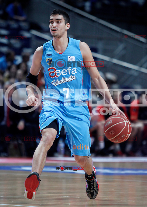 Asefa Estudiantes' Jaime Fernandez during Liga Endesa ACB match.November 11,2012. (ALTERPHOTOS/Acero) /NortePhoto