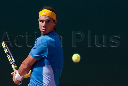 MONTE CARLO, MONACO. 14/04/2010 Rafael Nadal (ESP) in action during the second round at the ATP Monte Carlo Masters tennis tournament held in the Monte Carlo Country Club, Monaco, between from the 12th to the 18th April. .