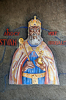 Frescos of St Istvan by Vilmos Aba-Novák (1937). Hero Gate First  World War Memorial  - Szeged, Hungary