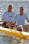 Mature couple in kayak
