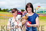 "L-r Maureen Clifford and ""Bella"" and Bridget Clifford and ""Ruby"" enjoying the Abbeydorney Vintage Show on Sunday"