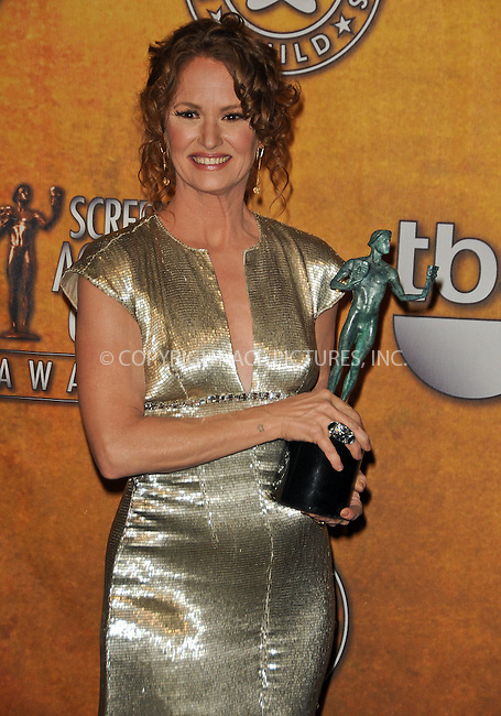 WWW.ACEPIXS.COM . . . . . ....January 30 2011, Los Angeles....Melissa Leo in the press room at the 17th Annual Screen Actors Guild Awards at The Shrine Auditorium on January 30, 2011 in Los Angeles, CA....Please byline: PETER WEST - ACEPIXS.COM....Ace Pictures, Inc:  ..(212) 243-8787 or (646) 679 0430..e-mail: picturedesk@acepixs.com..web: http://www.acepixs.com