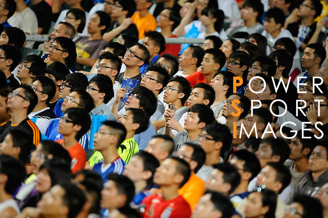 SO KON PO, HONG KONG - JULY 30: Chinese fans looks on during the Asia Trophy pre-season friendly match between Chelsea and Aston Villa at the Hong Kong Stadium on July 30, 2011 in So Kon Po, Hong Kong.  Photo by Victor Fraile / The Power of Sport Images