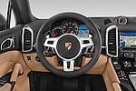 Car pictures of steering wheel view of a 2014 Porsche Cayenne Platinum Edition 5 Door SUV Steering Wheel