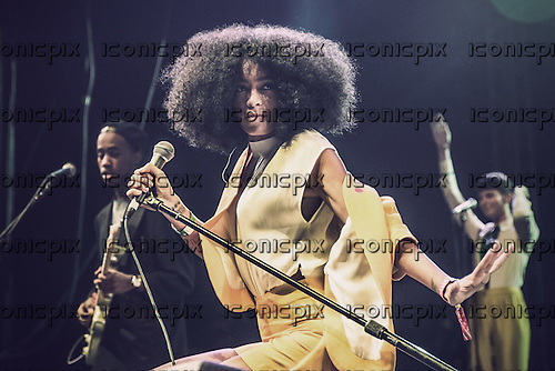 SOLANGE KNOWLES - performing live at the Coachella Festival in Indio Ca USA - 12 Apr 2014.  Photo credit: Nico Gaudin/Dalle/IconicPix