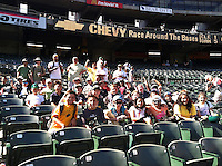 The Harker School - LS - Lower School - LS students won a Picnic Auction item to go enjoy a Oakland A's Basbeball game..Photo by Kathy Clark