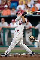 Buechele, Garrett 1559 in Game 8 of the NCAA Division One Men's College World Series on Monday June 22nd, 2010 at Johnny Rosenblatt Stadium in Omaha, Nebraska.  (Photo by Andrew Woolley / Four Seam Images)