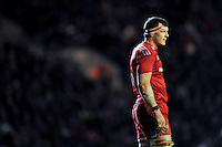 Robin Copeland of Munster Rugby looks on during a break in play. European Rugby Champions Cup match, between Leicester Tigers and Munster Rugby on December 20, 2015 at Welford Road in Leicester, England. Photo by: Patrick Khachfe / JMP