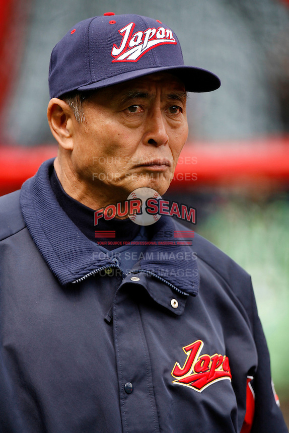 Manager Sadaharu Oh of Japan during World Baseball Championship at Petco Park in San Diego,California on March 12, 2006. Photo by Larry Goren/Four Seam Images