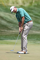 Bethesda, MD - July 1, 2017:  Bill Haas makes his putt during Round 3 of professional play at the Quicken Loans National Tournament at TPC Potomac in Bethesda, MD, July 1, 2017.  (Photo by Elliott Brown/Media Images International)