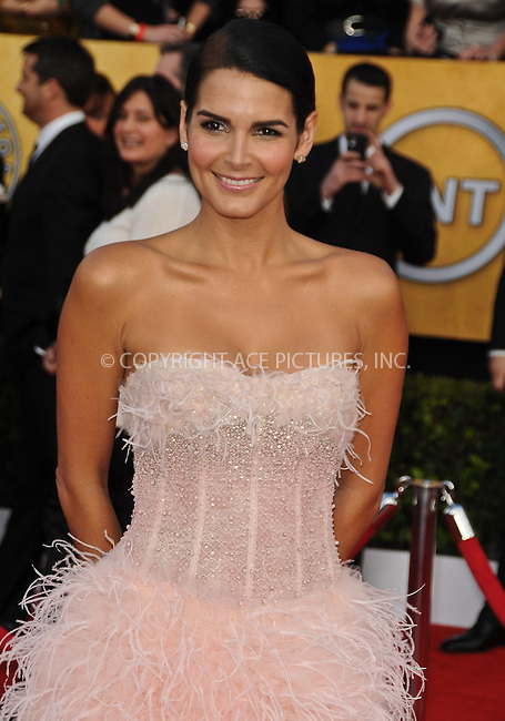 WWW.ACEPIXS.COM . . . . . ....January 30 2011, Los Angeles....Actress Angie Harmon arriving at the 17th Annual Screen Actors Guild Awards held at The Shrine Auditorium on January 30, 2011 in Los Angeles, CA....Please byline: PETER WEST - ACEPIXS.COM....Ace Pictures, Inc:  ..(212) 243-8787 or (646) 679 0430..e-mail: picturedesk@acepixs.com..web: http://www.acepixs.com