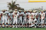 Torrance, CA 09/10/10 - Walt Proenca (Peninsula #56), Lorenzo Nunziati (Peninsula #13), Victor Woo (Peninsula #5), Jin Matsumoto (Peninsula #40), Belal Awad (Peninsula #37), Sammy Brown (Peninsula #35), Josh Mcguiness (Peninsula #3), Walter Woo (Peninsula #2), Mickey O'crowley (Peninsula #53)  in action during the Peninsula Panthers-North Saxons Varsity football game at North Torrance High School.