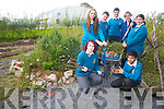 Rebecca Kelly, Karen O'Sullivan, Waleed Haroon, Christopher Tearle, Thomas Appleby, Aisling Fitzgibbon and Nicola Kosinova who took part in the gardening project in Mounthawk.
