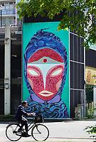 Nederland Amsterdam 2019 . De Bijlmer. Muurschildering van Ramon Guimaraes in de H-Buurt. Foto Berlinda van Dam / Hollandse Hoogte