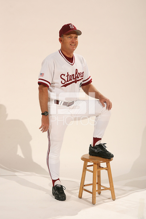 1 December 2005: Baseball cover shoot for the media guide. Mark Marquess, head coach.