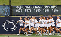 Penn State women's lacrosse before warm ups for their game against Princeton in the NCAA D1 Women's Lacrosse Championship quarterfinal on May 21, 2017. Penn State won 14-12. Photo/©2017 Craig Houtz