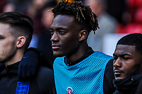 Swansea 's (on loan from Chelsea)  forward Tammy Abraham (12) for England U21's during the International Euro U21 Qualification match between England U21 and Ukraine U21 at Bramall Lane, Sheffield, England on 27 March 2018. Photo by Stephen Buckley / PRiME Media Images.
