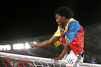 Calcio, finale Tim Cup: Milan vs Juventus. Roma, stadio Olimpico, 21 maggio 2016.<br /> Juventus&rsquo; Juan Cuadrado celebrates at the end of the Italian Cup final football match between AC Milan and Juventus at Rome's Olympic stadium, 21 May 2016. Juventus won 1-0 in the extra time.<br /> UPDATE IMAGES PRESS/Isabella Bonotto