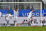 16.03.2019, BWT-Stadion am Hardtwald, Sandhausen, GER, 2. FBL, SV Sandhausen vs FC St. Pauli, <br /> <br /> DFL REGULATIONS PROHIBIT ANY USE OF PHOTOGRAPHS AS IMAGE SEQUENCES AND/OR QUASI-VIDEO.<br /> <br /> im Bild: Andrew Wooten (7, SV Sandhausen) jubelt ueber sein Tor zum 1:0 mit Fabian Schleusner (#11, SV Sandhausen)<br /> <br /> Foto &copy; nordphoto / Fabisch