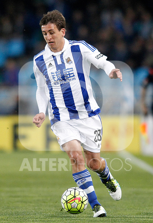 Real Sociedad's Mikel Oiarzabal during La Liga match. April 9,2016. (ALTERPHOTOS/Acero)