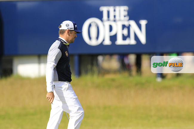 Louis Oosthuizen (RSA) at the 15th green during Sunday's Round 3 of the 144th Open Championship, St Andrews Old Course, St Andrews, Fife, Scotland. 19/07/2015.<br /> Picture Eoin Clarke, www.golffile.ie