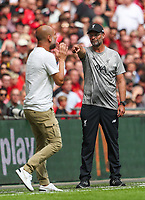 Managers Jurgen Klopp of Liverpool and Pep Guardiola of Manchester City during the FA Community Shield match between Liverpool and Manchester City at Wembley Stadium on August 4th 2019 in London, England. (Photo by John Rainford/phcimages.com)<br /> Foto PHC/Insidefoto <br /> ITALY ONLY
