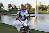 Rafael Cabrera-Bello (ESP) wins the tournament with a score of -18 after Sunday's Final Round of the 2012 Omega Dubai Desert Classic at Emirates Golf Club Majlis Course, Dubai, United Arab Emirates, 12th February 2012(Photo Eoin Clarke/www.golffile.ie)