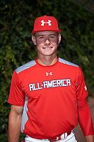 Jarred Kelenic (10) of Waukesha West High School in Waukesha, Wisconsin poses for a photo before the Under Armour All-American Game presented by Baseball Factory on July 29, 2017 at Wrigley Field in Chicago, Illinois.  (Mike Janes/Four Seam Images)