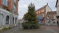 The Christmas Tree in Quay Street in Ammanford town centre, Carmarthershire, Wales, UK. Monday 10 December 2018