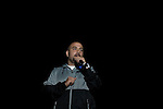 Hot 97's Peter Rosenberg Introduces Nas at the 8th Annual Rock The Bells Held on Governors Island, NY  9/3/11