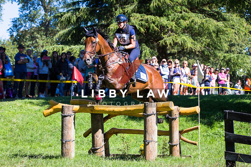 NZL-Samantha Felton (RICKER RIDGE ESCADA) 2ND-EVENTING: LAND ROVER CIC3* CROSS COUNTRY: 2015 NZL-Farmlands Horse Of The Year Show, Hastings (Saturday 21 March) CREDIT: Libby Law CREDIT: LIBBY LAW PHOTOGRAPHY