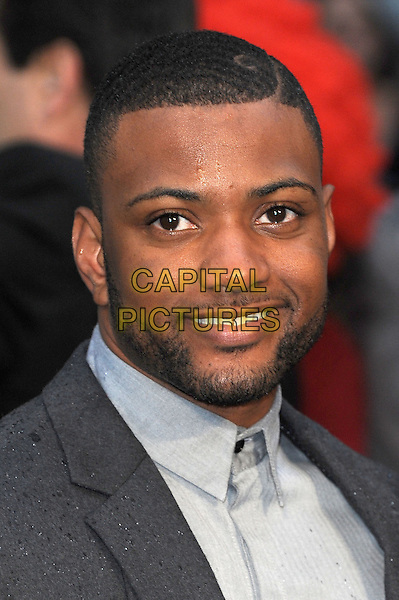 Jonathan &quot;JB&quot; Gill of JLS  <br /> 'Man Of Steel' UK film premiere, Empire cinema, Leicester Square, London, England.<br /> 12th June 2013<br /> headshot portrait grey gray shirt beard facial hair<br /> CAP/BEL<br /> &copy;Tom Belcher/Capital Pictures