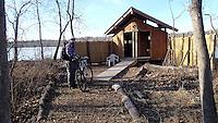 NWA Democrat-Gazette/FLIP PUTTHOFF <br /> The soft trail around Lake Fayetteville loops     Feb. 3 2017 near the Mulhollan waterfowl viewing blind.
