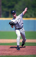 New York Yankees pitcher Jim Abbott (25) during Spring Training 1993 at Cocoa Expo Sports Center in Cocoa, Florida.  (MJA/Four Seam Images)