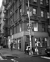 Corner of Ludlow and Stanton streets on the Lower East Side of Manhattan New York, Winter 2002