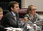 Nevada Assemblyman Elliot Anderson, D-Las Vegas works in committee at the Legislative Building in Carson City, Nev., on Monday, Feb. 23, 2015. <br /> Photo by Cathleen Allison