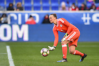 Harrison, NJ - Saturday, March 04, 2017: Almuth Schult prior to a SheBelieves Cup match between the women's national teams of France (FRA) and Germany (GER) at Red Bull Arena.