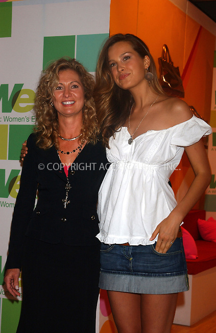 WWW.ACEPIXS.COM . . . . . ....NEW YORK, SEPTEMBER 14, 2005....Petra Nemcova and the Womens Entertainment Network unveil their new celebrity public service announcement as part of WE's 'WE Empowers Women' campaign at the tents in Bryant Park.....Please byline: KRISTIN CALLAHAN - ACE PICTURES.. . . . . . ..Ace Pictures, Inc:  ..Craig Ashby (212) 243-8787..e-mail: picturedesk@acepixs.com..web: http://www.acepixs.com