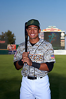 Inland Empire 66ers second baseman Jahmai Jones (8) poses for a photo before a California League game against the Lancaster JetHawks at San Manuel Stadium on May 19, 2018 in San Bernardino, California. Inland Empire defeated Lancaster 9-6. (Zachary Lucy/Four Seam Images)