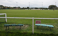 General view of the Stadium during the Molten Spartan South Midlands Premier match between Oxhey Jets and Colney Heath on Non League Day at Altham Way, South Oxhey, England on 10 October 2015. Photo by Andy Rowland.