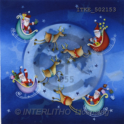 Isabella, CHRISTMAS SANTA, SNOWMAN, paintings(ITKE502153,#X#) Weihnachtsmänner, Schneemänner, Weihnachen, Papá Noel, muñecos de nieve, Navidad, illustrations, pinturas