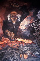 Mural by Jose Clemente Orozco showing Miguel Hidalgo, Government Palace, Gudalajara, Mexico