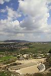 Israel, lower Galilee, the Roman theater in Zippori, overlooking Beit Netofa valley