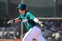 Chicago State University Cougars infielder Dylan Sterrett #3 during a game against the St. Bonaventure Bonnies at South County Regional Park on March 3, 2013 in Punta Gorda, Florida.  (Mike Janes/Four Seam Images)