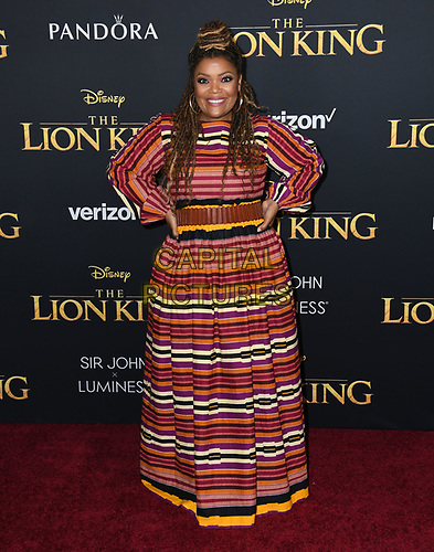 "09 July 2019 - Hollywood, California - Yvette Nicole Brown. Disney's ""The Lion King"" Los Angeles Premiere held at Dolby Theatre. <br /> CAP/ADM/BT<br /> ©BT/ADM/Capital Pictures"