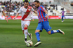 Rayo Vallecano´s Tito and Levante UD´s Jose Luis Morales Nogales during 2014-15 La Liga match between Rayo Vallecano and Levante UD at Vallecas stadium in Madrid, Spain. February 28, 2015. (ALTERPHOTOS/Luis Fernandez)