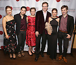 "Victoria Lewis, Chieh-Fan Yiu, Kristina Bachrach, Max Barros, Melanie Clapies and Ari Evan attends the Opening Night Party for ""Because I Could Not Stop: An Encounter with Emily Dickinson"" at the West Bank Cafe on September 27, 2018 in New York City."