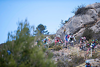 Chelva, SPAIN - MARCH 6: Francisco Murillo, Maria Dolores Valladares, Ivan Feijoo, Eloy Palomar, Raul Flores during Spanish Open BTT XCO on March 6, 2016 in Chelva, Spain