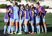 Seattle, WA - Saturday July 23, 2016: Orlando Pride prior to a regular season National Women's Soccer League (NWSL) match between the Seattle Reign FC and the Orlando Pride at Memorial Stadium.